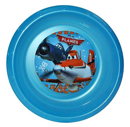"""Suppenteller / Suppenschüssel / Müslischale - Kinderteller """" Disney Planes Flugzeuge """" - aus Kunststoff / Plastikteller Plastik - Geschirr für Kinder - Flugzeug Jungen - Speiseteller - Dusty"""