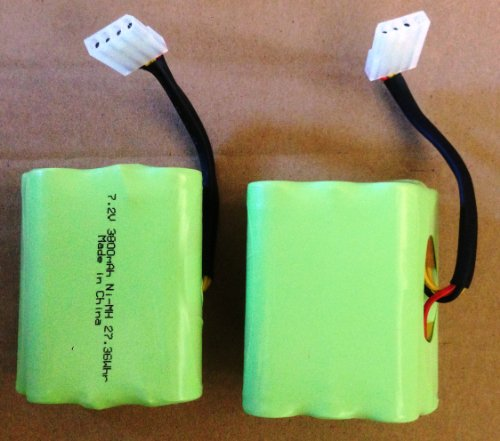 2 Pet Filter for Neato XV-11 14 15 21 25  Pro Super 3800mAh Battery 2-Pack