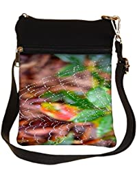 Snoogg Spider Web Cross Body Tote Bag / Shoulder Sling Carry Bag