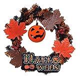 ハロウィンパンプキンミニリース 紐付 かぼちゃ 玄関飾り インテリア雑貨 イベント 秋