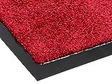 Schmutzfangmatte TWISTER   6 Farben   5 Größen   100% Polyamid   2.600g/m²   Sauberlaufmatte   Türmatte   Fußmatte   Schmutzfangläufer   Sauberlaufteppich - Rot - 0,60m x 1,80m