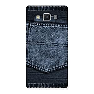 Special Navy Jeans Pocket Back Case Cover for Samsung Galaxy A5