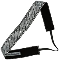 Sweaty Bands Roll Tide Headband, Black/Silver, 1-Inch