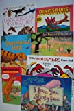 Book Sets : Dk Sticker Book Dangerous Dinosaurs - Tyrannosaurus Math - The Dinosaur Who Lived in My Backyard - If the Dinosaurs Came Back - Dinosaurs Trivia Fun Book - I Love You Stinky Face - Dinosaurs Big and Small (An Unofficial Box Set - Children Picture Books)