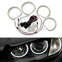 Ijdmtoy 7000k Xenon White 264-smd Led Angel Eyes Halo Ring Lighting Kit For Bmw E36 E46 E38 E39 3 5 7 Series by iJDMTOY Auto Accessories