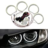 iJDMTOY 7000K Xenon White 264-SMD LED Angel Eyes Halo Ring Lighting Kit for BMW E36 E46 E38 E39 3 5 7 Series