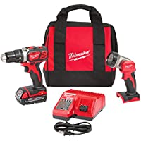 Milwaukee M18 18-Volt Lithium-Ion Cordless 1/2 in. Compact Drill/Worklight Kit
