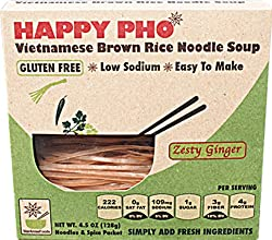 Happy Pho Rice Ndl Ginger Vietnm 45 OZ Pack of 6