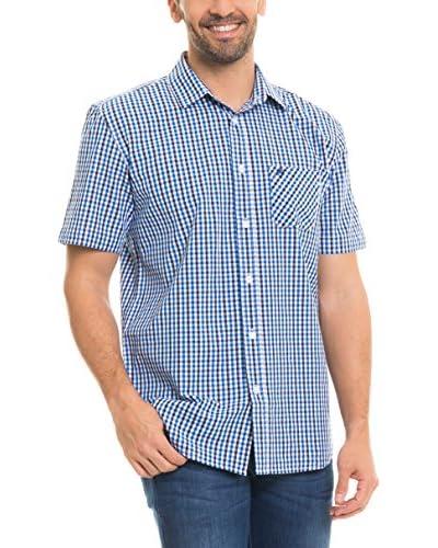 BIG STAR Camicia Uomo Balavin_Shirt_Ss  [Blu/Bianco]