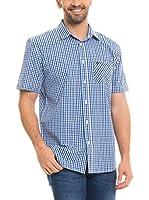 BIG STAR Camisa Hombre Balavin_Shirt_Ss (Azul / Blanco)
