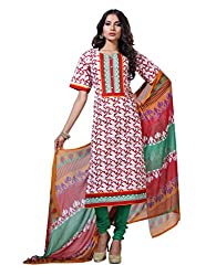 Varanga Red Exclusive Printed Dress Material with all over printed dupatta KFHARRA2HSN1010
