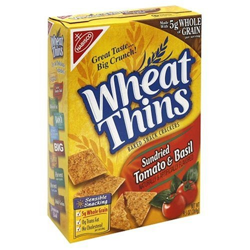 Wheat Thins, Sundried Tomato & Basil, 9.5-Ounce Boxes (Pack of 6 ...