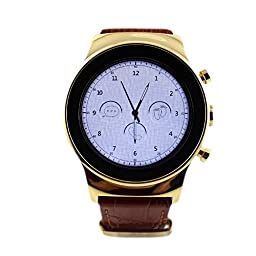 Round Smart Watch, SANOXY Luxury Steel Smart Phone Watch with SIM card and Heart Rate, Camera (GOLD)