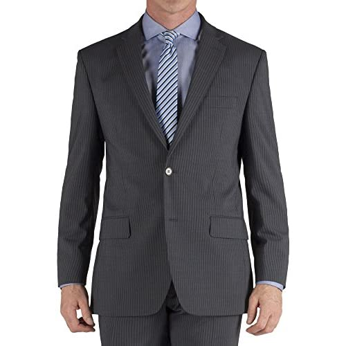 Suit Direct Pierre Cardin Charcoal Stripe Regular Fit Suit - Classic Regular Fit Two Piece Suit