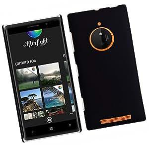 SellNxt Rubberized Coated Matte Hard Back case for Nokia Lumia 830 (Black)