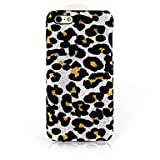 GHK - White Leopard Print Textile Cloth Art Back Case for iPhone 5C