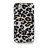GHK - White Leopard Print Textile Cloth Art Back Case for iPhone 5C