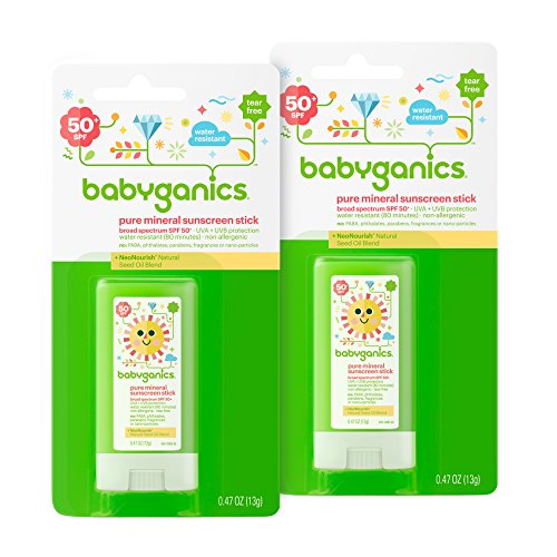 Babyganics-Mineral-Based-Baby-Sunscreen-Stick-SPF-50-47oz-Stick-Pack-of-2