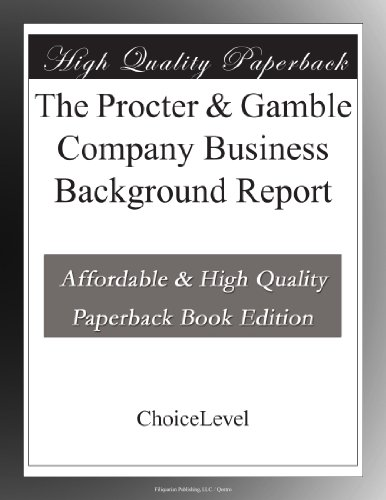 the-procter-gamble-company-business-background-report