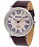 EfashionUp Silver Dial Brown Belt Watch for Men-205