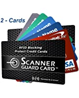 RFID Wallet Blocking Cards, Secure Credit Cards from Identity Theft - Fits into Your Credit Card Holder, Wallet, Case or Sleeve - Sandwich Credit Cards between 2 Block RFID Cards - Best Credit Card Protector that Fits in Any Wallet (2-cards)
