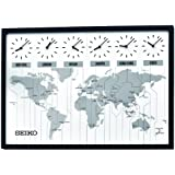 Seiko QXA538KLH Classic Six City World Time Wall Clock
