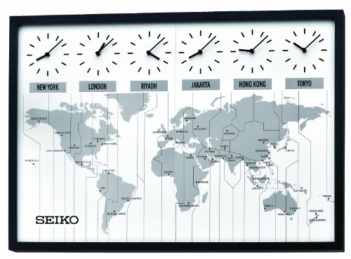 Seiko QXA538KLH Classic Six City World Time Wall Clock (World Clock Watch compare prices)