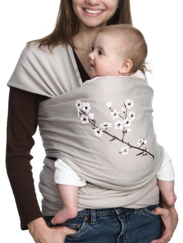 Fantastic Deal! Moby Wrap UV SPF 50+ 100% Cotton Baby Carrier, Almond Blossom