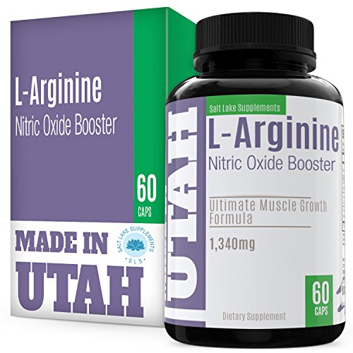 L-Arginine Nitric Oxide Booster - Best Muscle Growth Formula With Essential Amino Acids To Build Muscle And Increase Energy Levels To Train And Workout Longer And Harder For Faster Results (Mass Peak Protein Powder compare prices)