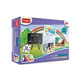 Funskool Play And Learn Animals And Their Homes, Multi Color