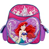 """Disney The Little Mermaid Arial Magical Sea Girls 12"""" Backpack Small Pink"""