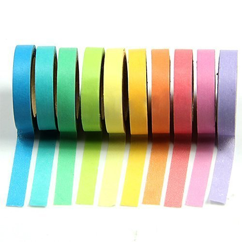Katara, Set di 10 nastri di carta adesivi, Multicolore