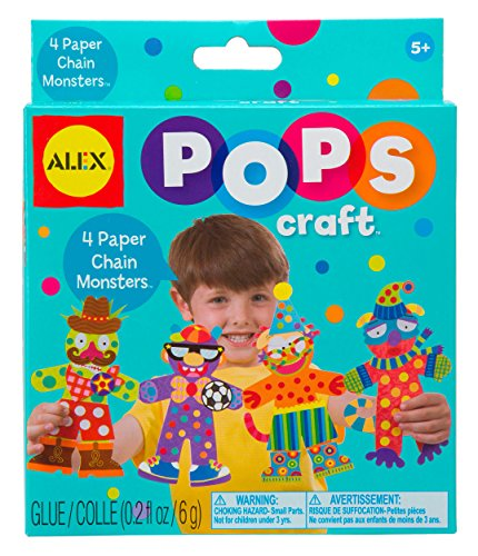 ALEX Toys POPS Craft 4 Paper Chain Monsters - 1