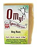 O My!Tm Bay Rum Goat Milk Soap All Natural, Palm Oil Free, Handmade Soap Made In Usa