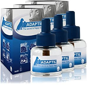 3 PACK ADAPTIL (D.A.P.) Dog Appeasing Pheromone REFILL (144mL) from DAP