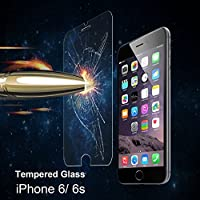 iPhone 6S Screen Protector, Tempered Glass Screen Protector For iPhone 6 6S [3D Touch Compatible] 0.3mm Screen Protection Case Fit 99% Touch Accurate by Kiwii
