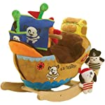 RockAbye Ahoy Doggie Pirate Ship Rocker Multi OS -Kids by Rockabye