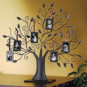 Phillip Whitney Bronze Family Tree 20009 Picture Frame 6 Hanging Photo Frames