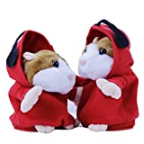 Talking MC DJ Rapper Mimicry DJ Dancing Early Learning Repeat Voice Copy Talking Hamster Mouse Headphone Pet Kids Toy Xmas Birthday Gift