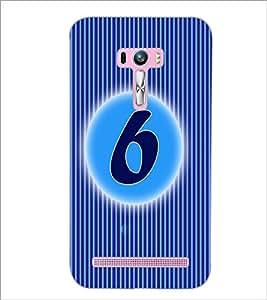 PrintDhaba Numerology Number 6 D-2561 Back Case Cover for ASUS ZENFONE SELFIE ZD551KL (Multi-Coloured)