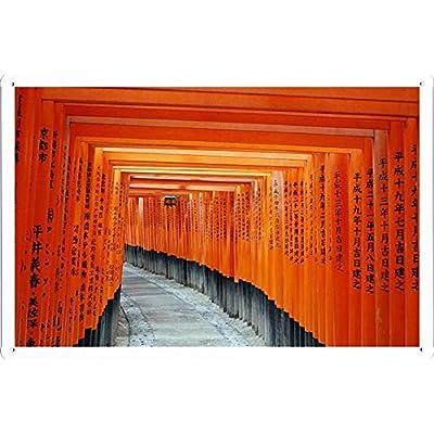 伏見稲荷大社京都日本のティンサイン 金属看板 ポスター / Tin Sign Metal Poster of Fushimi Inari Taisha Kyoto Japan