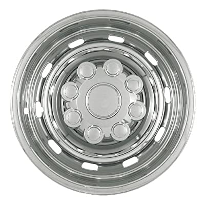 "Bully Imposter IMP-57X, Dodge, 17"" Silver Replica Wheel Cover, (Set of 4)"