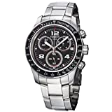 Tissot Men's T0394171105702 V 8 Stainless Steel Black Chronograph Dial Watch