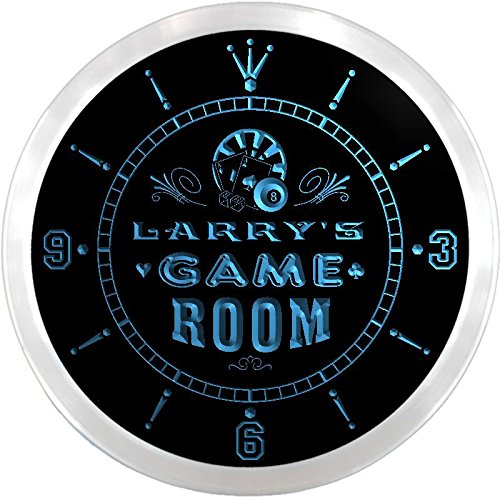 Ncpl0029-B Larry'S Game Room Den Beer Bar Led Neon Sign Wall Clock