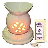 Cool Mist Ceramic Electric Aroma Diffuser With Lavender Oil - Design 15-7/I