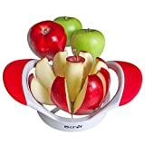 Apple Slicer and Corer by B-Chef. This Stylish Apple Cutter will divide your favourite apple into 8 equal slices. Dishwasher safe. White & Red.
