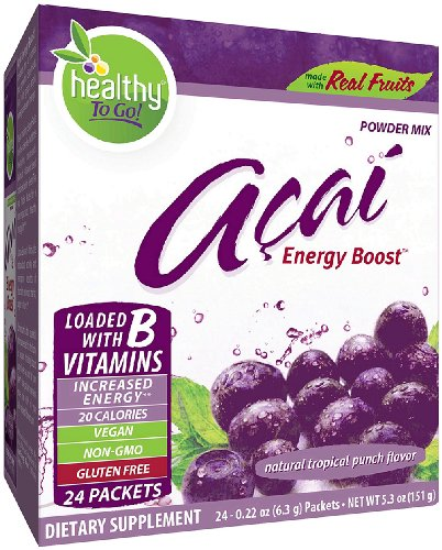 To Go Brands Acai Energy, Tropical Punch Flavor, 24