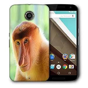 Snoogg Big Nose Monkey Designer Protective Phone Back Case Cover For Motorola Nexus 6