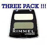 THREE PACK Rimmel Colour Rush Duo Eye Shadow Bavarian Green '381'