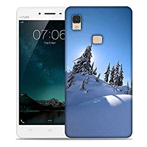 Snoogg Snow On Trees Designer Protective Phone Back Case Cover For Vivo V3 Max